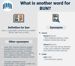 bun, synonym bun, another word for bun, words like bun, thesaurus bun