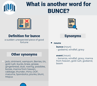 bunce, synonym bunce, another word for bunce, words like bunce, thesaurus bunce