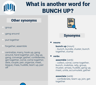 bunch up, synonym bunch up, another word for bunch up, words like bunch up, thesaurus bunch up