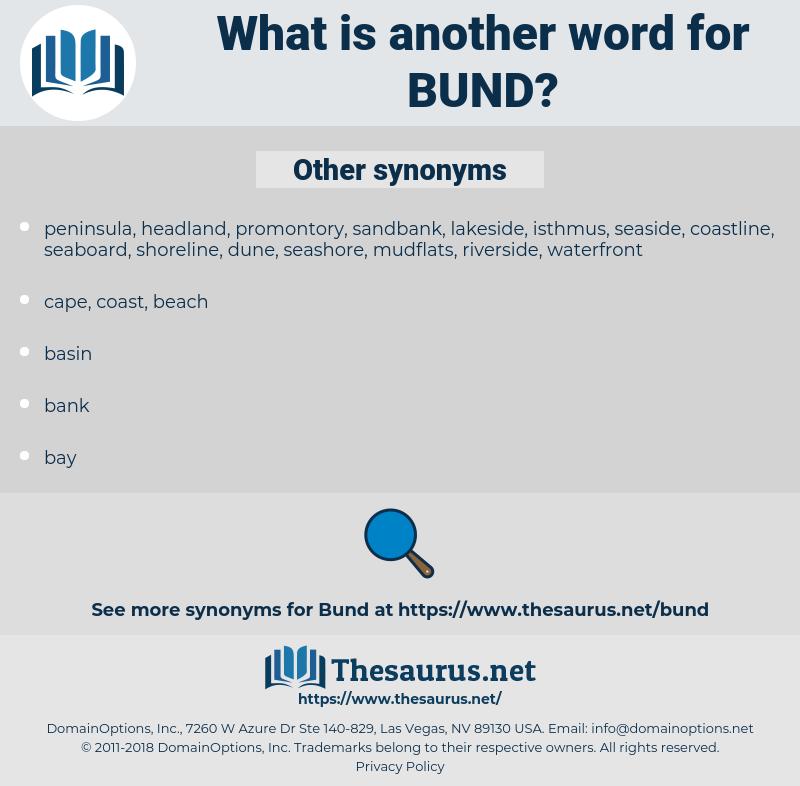 Bund, synonym Bund, another word for Bund, words like Bund, thesaurus Bund