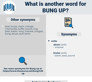 bung up, synonym bung up, another word for bung up, words like bung up, thesaurus bung up