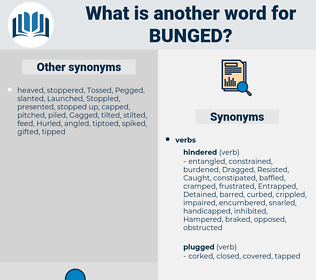 Bunged, synonym Bunged, another word for Bunged, words like Bunged, thesaurus Bunged