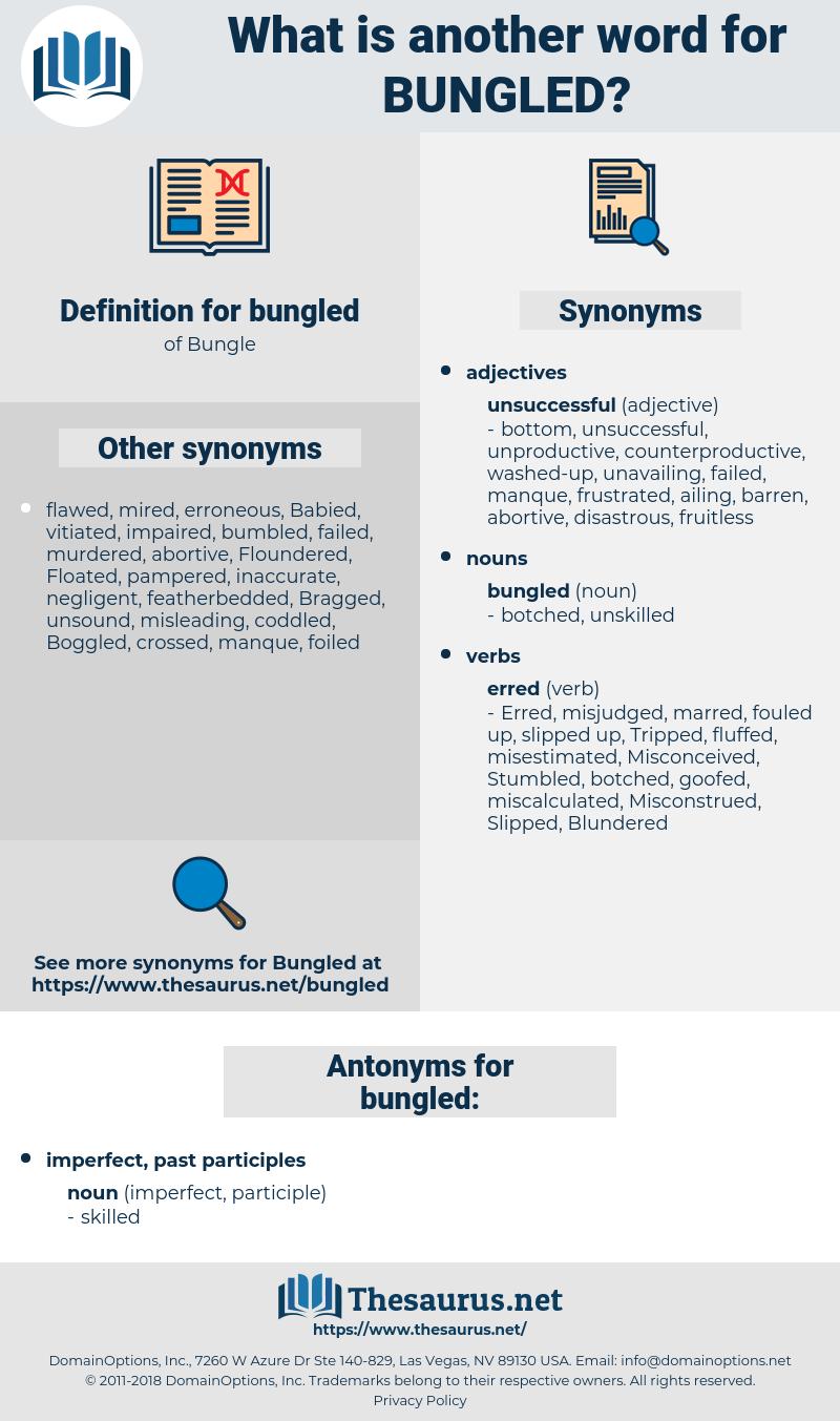bungled, synonym bungled, another word for bungled, words like bungled, thesaurus bungled