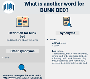 bunk bed, synonym bunk bed, another word for bunk bed, words like bunk bed, thesaurus bunk bed