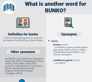 bunko, synonym bunko, another word for bunko, words like bunko, thesaurus bunko