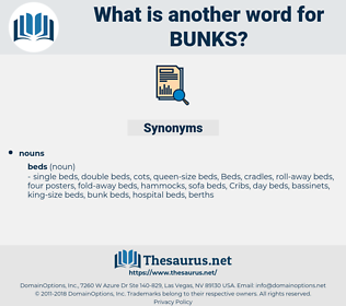 bunks, synonym bunks, another word for bunks, words like bunks, thesaurus bunks
