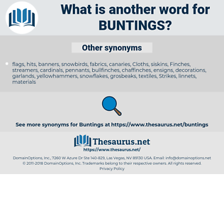 buntings, synonym buntings, another word for buntings, words like buntings, thesaurus buntings