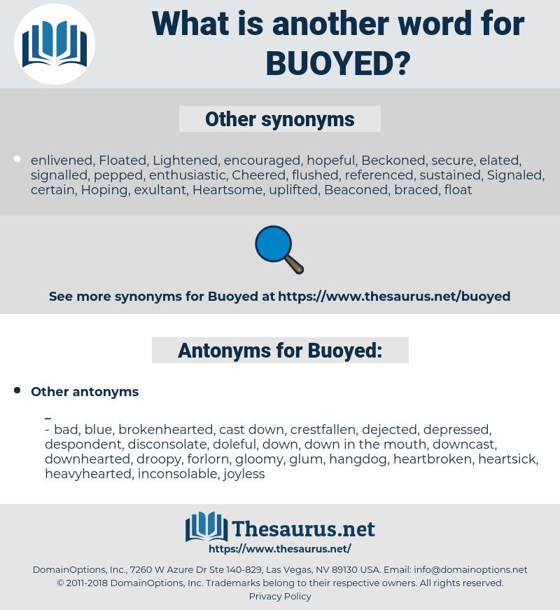 Buoyed, synonym Buoyed, another word for Buoyed, words like Buoyed, thesaurus Buoyed