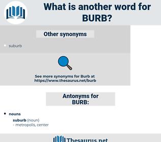 BURB, synonym BURB, another word for BURB, words like BURB, thesaurus BURB