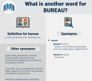 bureau, synonym bureau, another word for bureau, words like bureau, thesaurus bureau