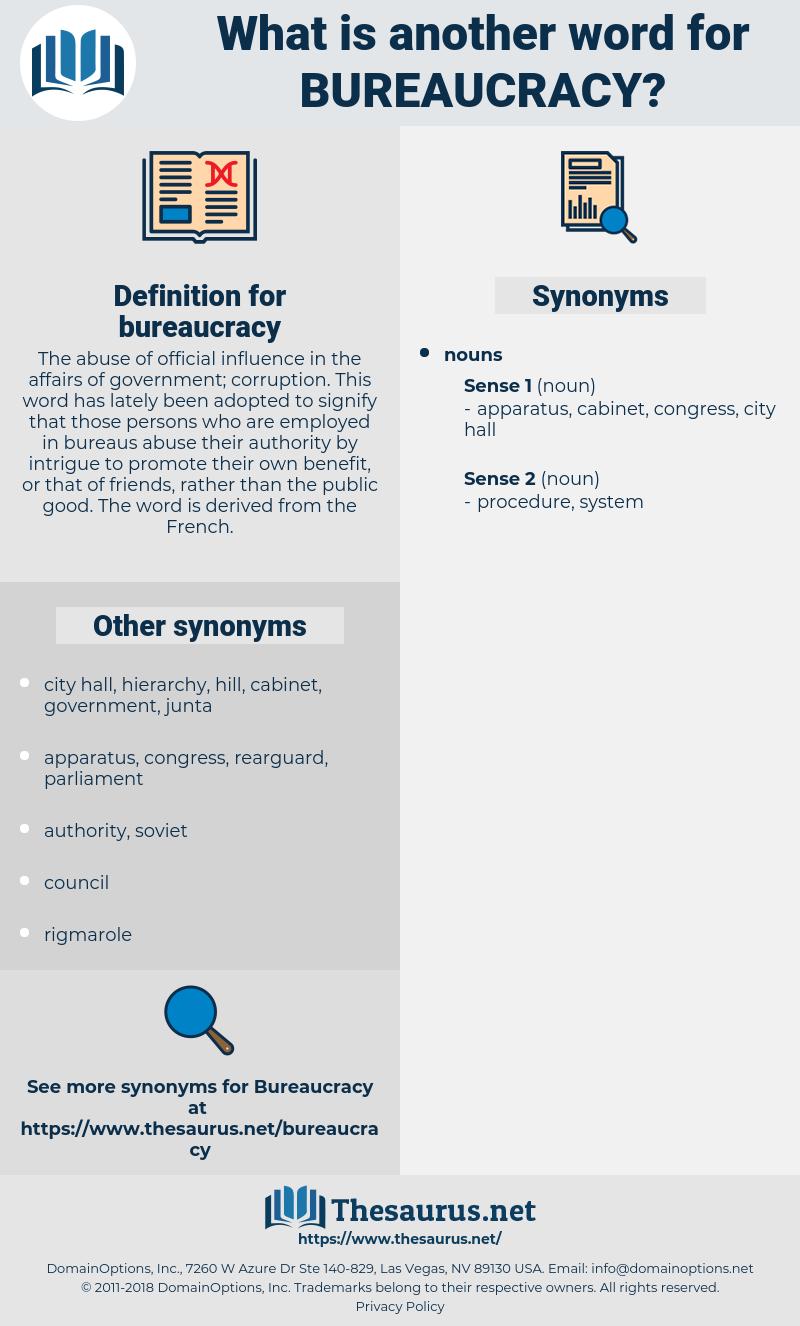 bureaucracy, synonym bureaucracy, another word for bureaucracy, words like bureaucracy, thesaurus bureaucracy