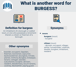 burgess, synonym burgess, another word for burgess, words like burgess, thesaurus burgess