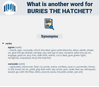 buries the hatchet, synonym buries the hatchet, another word for buries the hatchet, words like buries the hatchet, thesaurus buries the hatchet
