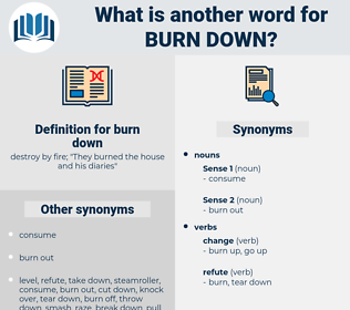 burn down, synonym burn down, another word for burn down, words like burn down, thesaurus burn down