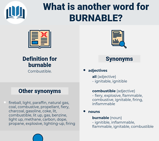 burnable, synonym burnable, another word for burnable, words like burnable, thesaurus burnable