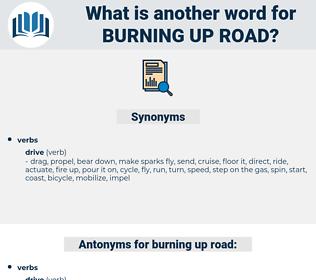 burning up road, synonym burning up road, another word for burning up road, words like burning up road, thesaurus burning up road