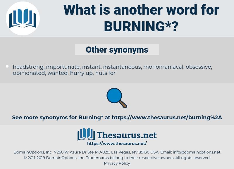 burning, synonym burning, another word for burning, words like burning, thesaurus burning