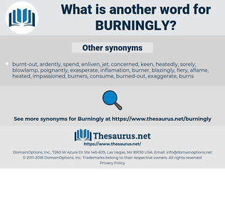 burningly, synonym burningly, another word for burningly, words like burningly, thesaurus burningly
