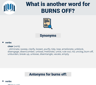 burns off, synonym burns off, another word for burns off, words like burns off, thesaurus burns off