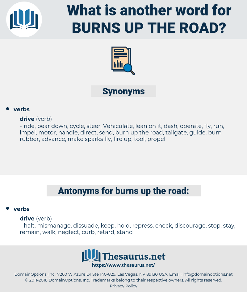 burns up the road, synonym burns up the road, another word for burns up the road, words like burns up the road, thesaurus burns up the road