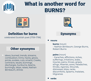 burns, synonym burns, another word for burns, words like burns, thesaurus burns