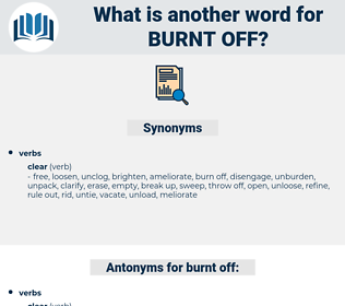 burnt off, synonym burnt off, another word for burnt off, words like burnt off, thesaurus burnt off