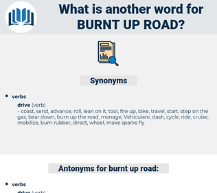 burnt up road, synonym burnt up road, another word for burnt up road, words like burnt up road, thesaurus burnt up road