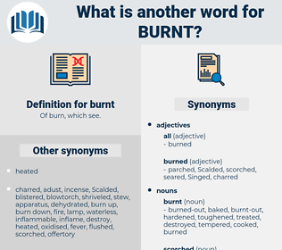 burnt, synonym burnt, another word for burnt, words like burnt, thesaurus burnt
