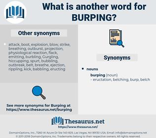 burping, synonym burping, another word for burping, words like burping, thesaurus burping