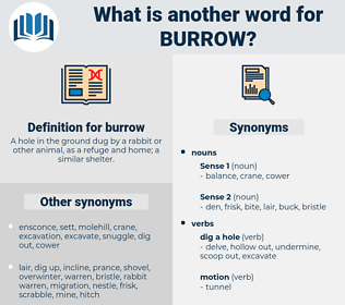 burrow, synonym burrow, another word for burrow, words like burrow, thesaurus burrow