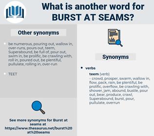 burst at seams, synonym burst at seams, another word for burst at seams, words like burst at seams, thesaurus burst at seams