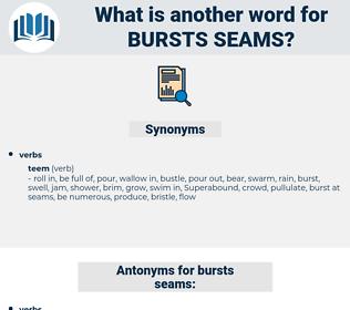 bursts seams, synonym bursts seams, another word for bursts seams, words like bursts seams, thesaurus bursts seams