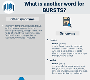 bursts, synonym bursts, another word for bursts, words like bursts, thesaurus bursts