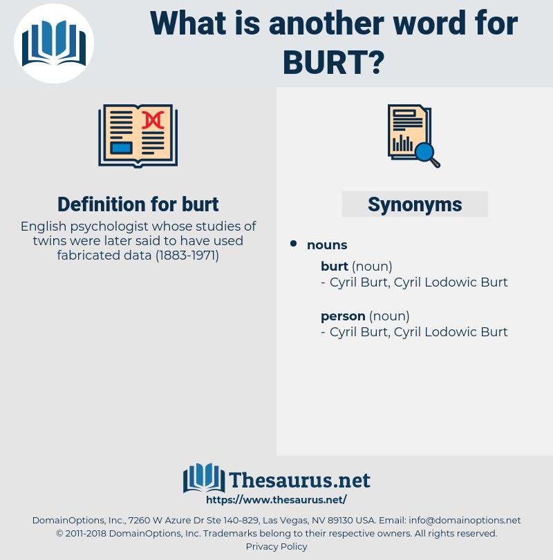 burt, synonym burt, another word for burt, words like burt, thesaurus burt