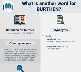 burthen, synonym burthen, another word for burthen, words like burthen, thesaurus burthen