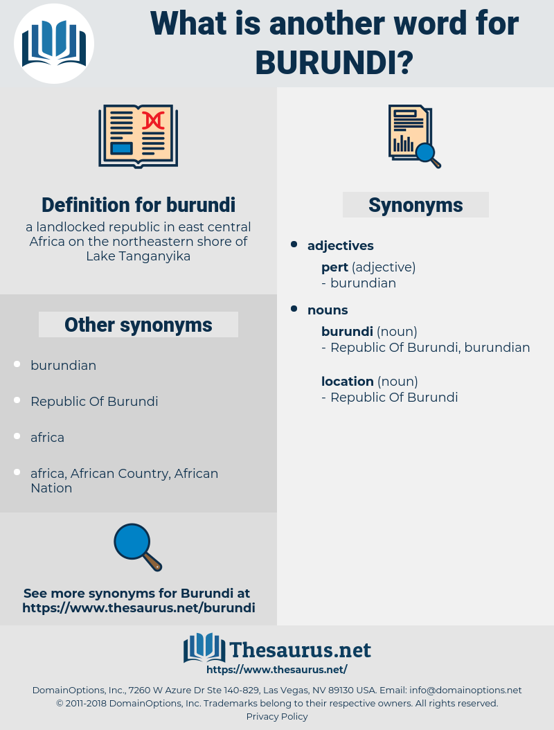 burundi, synonym burundi, another word for burundi, words like burundi, thesaurus burundi