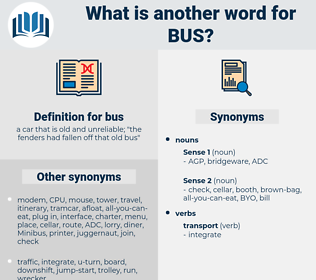 bus, synonym bus, another word for bus, words like bus, thesaurus bus