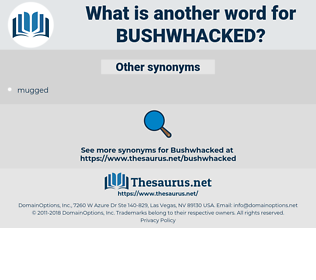 bushwhacked, synonym bushwhacked, another word for bushwhacked, words like bushwhacked, thesaurus bushwhacked