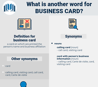 business card, synonym business card, another word for business card, words like business card, thesaurus business card