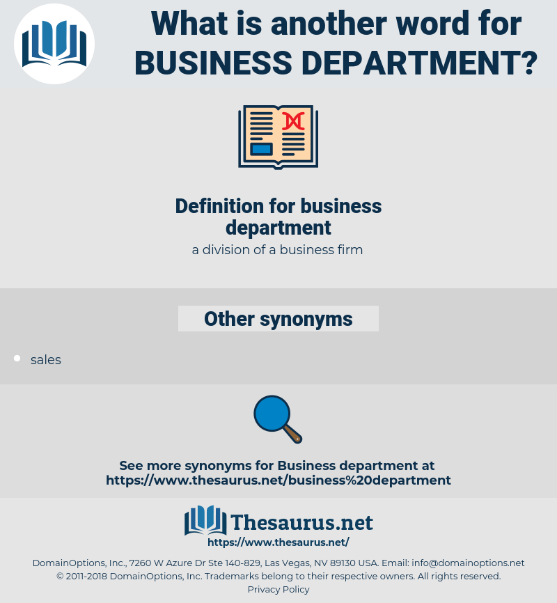 business department, synonym business department, another word for business department, words like business department, thesaurus business department