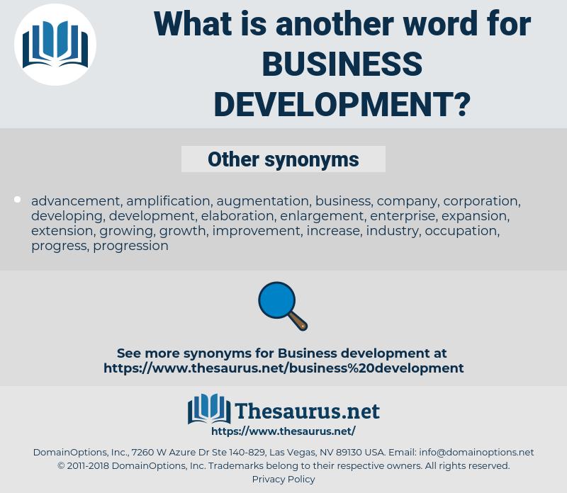 business development, synonym business development, another word for business development, words like business development, thesaurus business development