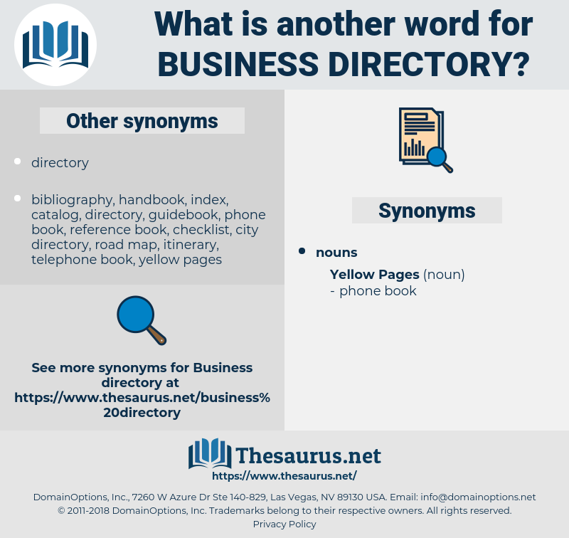 business directory, synonym business directory, another word for business directory, words like business directory, thesaurus business directory