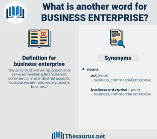 business enterprise, synonym business enterprise, another word for business enterprise, words like business enterprise, thesaurus business enterprise