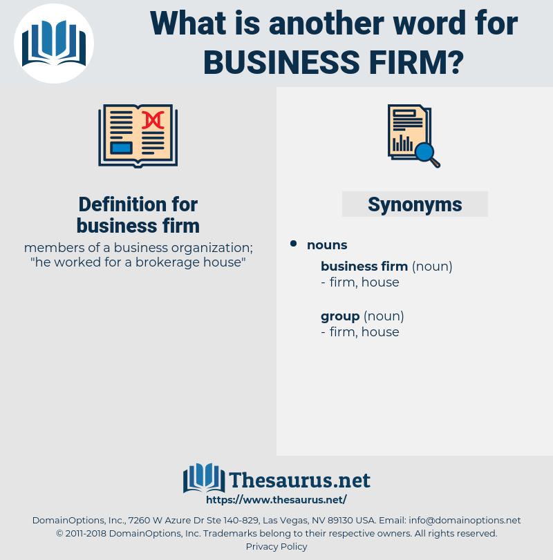 business firm, synonym business firm, another word for business firm, words like business firm, thesaurus business firm