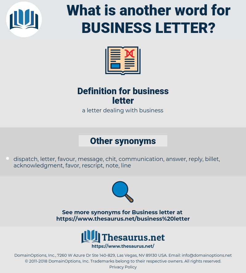 Business Letter Synonym Business Letter Another Word For Business Letter Words Like Business