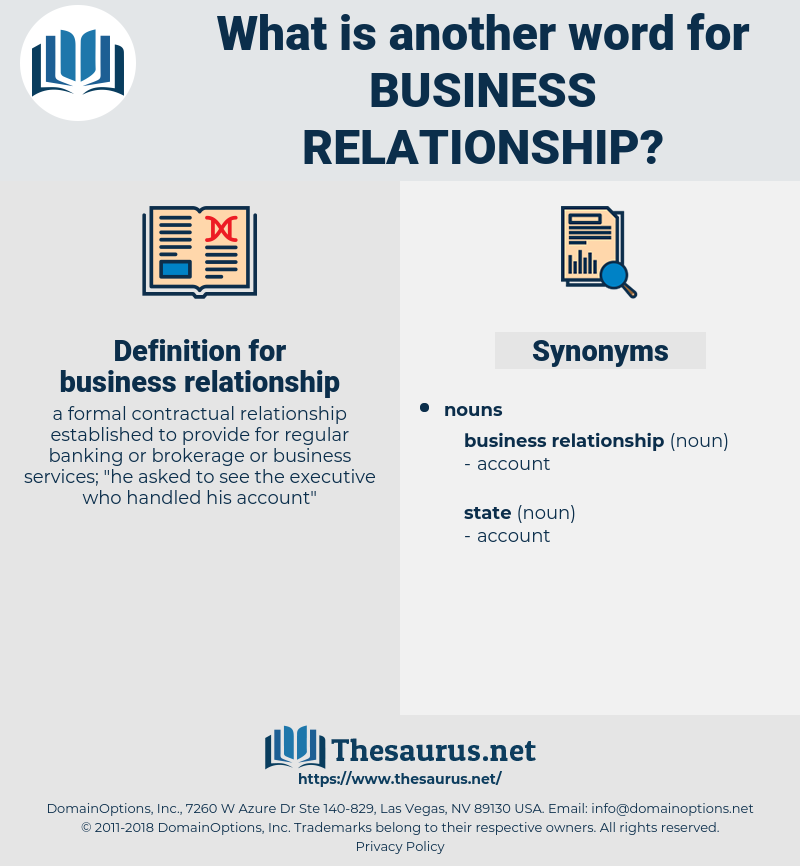 business relationship, synonym business relationship, another word for business relationship, words like business relationship, thesaurus business relationship