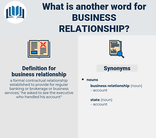 Business relationship synonym