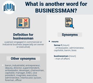 businessman, synonym businessman, another word for businessman, words like businessman, thesaurus businessman