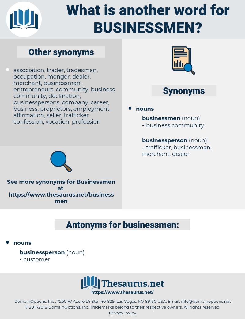 businessmen, synonym businessmen, another word for businessmen, words like businessmen, thesaurus businessmen