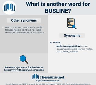 busline, synonym busline, another word for busline, words like busline, thesaurus busline